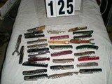 Collection of Cork Screws from Different Vineyards, some Vintage