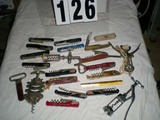 Collection of Cork Screws from Various Vineyards, some Vintage
