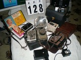 Six Vintage Cameras (some original cases) and Vintage Accessories; includes Ricoh