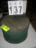 Vintage Wooden Hat Box, 14.5