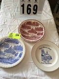 Three Collectible Plates; includes Raleigh Moravian Church 1953-1993