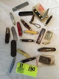 Group of Vintage Pocket Knives; includes Old Timer, Chatham, Tree Brand, Swiss Army