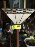 Metal Base Floor Lamp, 6 ft. tall, with Prairie Style Shade