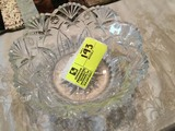 Crystal Scalloped Edged Fruit Bowl, 9