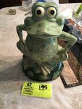 Hand Painted Frog Cookie Jar, by Noho Studio, 11