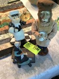Three Decorative Figurines; includes Chef (12.5