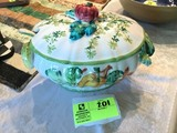 Italian Made, Hand Painted Soup Tureen, 13