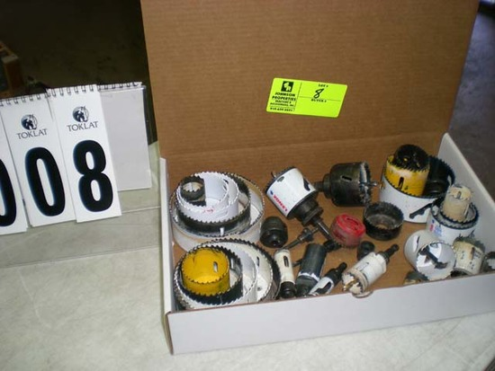 Box lot with misc. hole saws, approx. 29 pieces