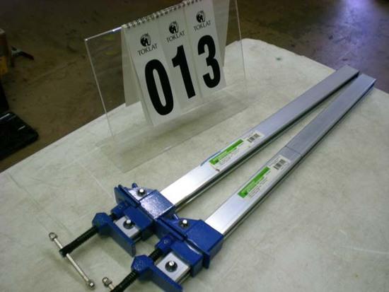 """Pair of Pittsburgh 24"""" aluminum bar clamps 60541"""