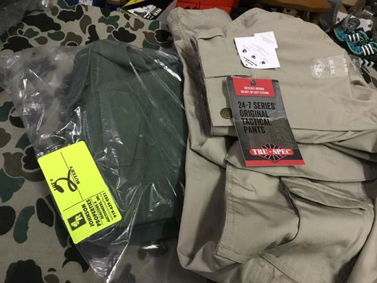 Two Pair Truspec 24-7 Series Tactical Pants, Size 30x30, Green and Tan