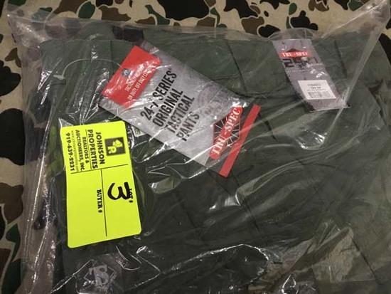 Two Pair Truspec 24-7 Series Tactical Pants, Size 30x32, Green