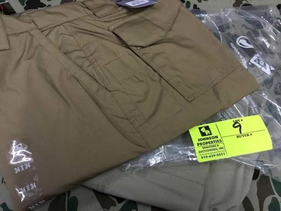 Two Pair Truspec 24-7 Series Tactical Pants, Size 34x34, Tan and Khaki