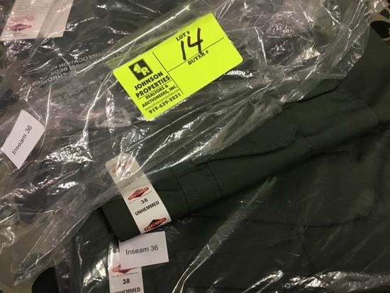 Two Pair Truspec 24-7 Series Tactical Pants, Size 38 Unhemmed, Green