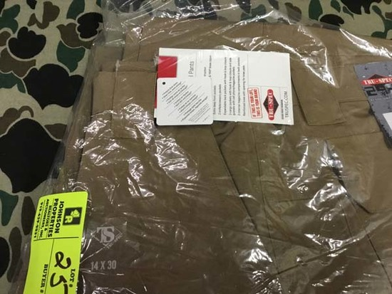 Two Pair Truspec 24-7 Series Tactical Pants, Size 14x30, Tan