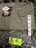 Two Pair Truspec 24-7 Series Tactical Pants, Size 30x34, Khaki