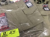 Two Pair Truspec 24-7 Series Tactical Pants, Size 10 Unhemmed, Khaki