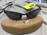 Maui Jim Sunglasses, Black Wraparound Frames, with Clamshell Case, #MU405-02 15-130