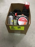 Box Lot of Shoe Care Products; includes Polish, Cleaner, Brushes, Edge Dressing, etc