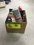 Box Lot of Shoe Care Products; includes Mink Oil, Paste, Shoe Stretch, and Shine Cloths