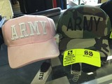 Army Green Camo Cap and Army Pink Cap with White Lettering