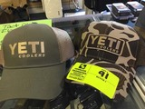 Yeti Coolers Brown Camo Cap and Yeti Coolers Khaki and Olive Cap with Mesh Back