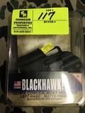 Black Hawk Serpa Concealment Holster, Left, Springfield XD Subcompact, Paddle and Belt Loop