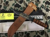 KA-BAR Collector's US Navy 15th Anniversary Desert Storm Knife, Blade is approx. 7