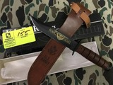 KA-BAR Collector's US Army 75th Anniversary Purple Heart Knife, Blade is approx. 7