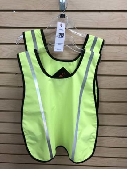 Two Rothco Safety Vests, Oxford Shell, High Visibility Tape, Velcro Closure, One Size Fits All