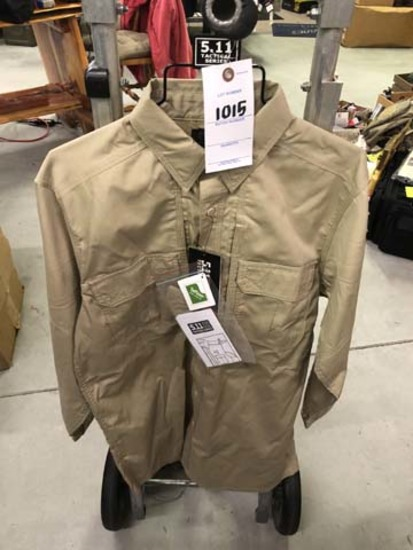5.11 Tactical Men's Taclite Pro Long Sleeve Shirt, Size Small Regular, Khaki