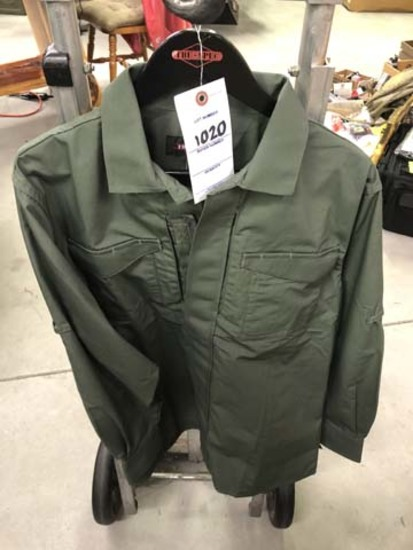 Tru-Spec 24/7 Series Long Sleeve Uniform Shirt, Size Medium, Olive Drab