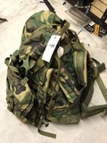 Large Back Pack with Multi Compartments, Camo, approx. 23