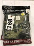 Two Ultra Force by Rothco Thermal Underwear Tops, Size 5XL and 6XL, Green Camo and Gray Camo
