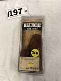 Bianchi Gun Leather Model 100 Professional Holster, Plain Tan, Right Hand, Size 21