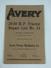 Avery 25-50 Tractor Repair list 1927?