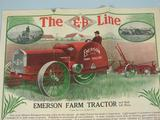 Emerson Brantingham Color Fold out Advertisment for the EB Model L& Big Four 20