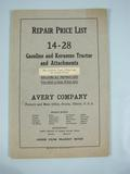 Avery  Avery Repair Price list for 14-28 Tractor