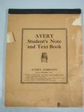 Avery  Avery Student's Note and Text Book