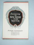 Avery  Advertisment for the New 15.H.P Tractor