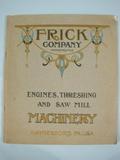 Frick Frick Machinery Catalog 1912