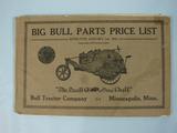 Bull Tractor Company Big Bull Parts Price List 1919