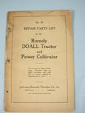 Rumely  Rumely Do All Repair Parts List