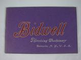 Bidwell Bidwell Threshing Machinery Catalog
