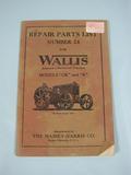 Massey Wallis Tractors Repair Parts List