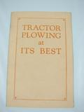 International Harvester Company Tractor Plowing at Its Best