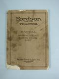Ford Fordson Tractor Manaul