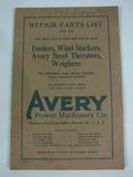 Avery Repair Parts List No. 33