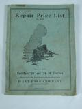 Hart Parr Repair Price List for Hart Parr 30 and 16-30 Tractors