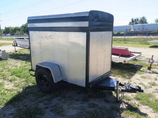 "2011 Homemade enclosed trailer 7'Lx4'Wx5'6""H, 235x75x15 tires (transfer &"