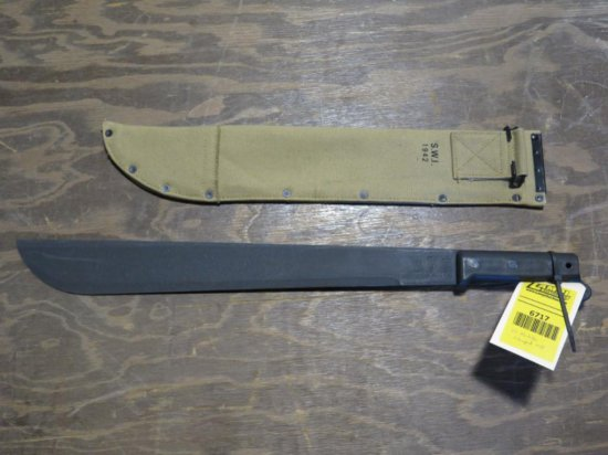 US Military Machette, stamped 1943, tag#6717